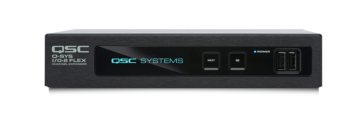 QSC QSYS I/O-8 Flex Channel Expander